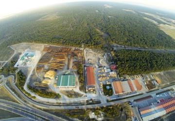 Vista aerea de la planta Naturpellet